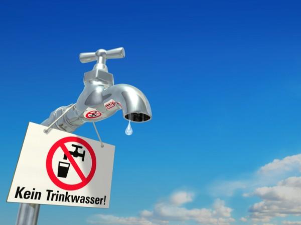 Leitungswasser - kein Trinkwasser